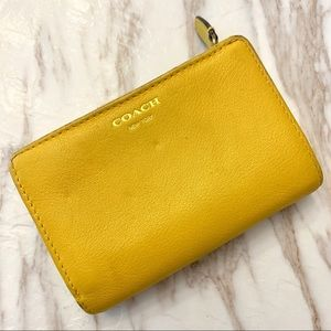 Coach Mustard Leather Wallet